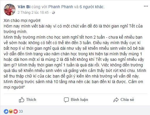 Sinh vien gay 'bao' khi keu goi ky ten phan doi cho nghi Tet qua dai hinh anh 1