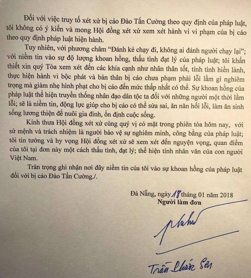 Nhan tin doa giet Chu tich UBND TP Da Nang: Mot bi hai xin giam an cho Dao Tan Cuong hinh anh 2