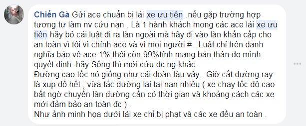 Xe khach tong xe cuu hoa tren cao toc: Khong the vin co uu tien gay nguy hiem tinh mang bao nguoi hinh anh 7