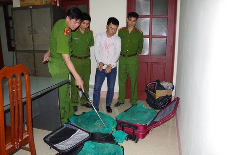 3 valy keo day ran ho mang van chuyen tu Sai Gon ra Ha Noi hinh anh 1