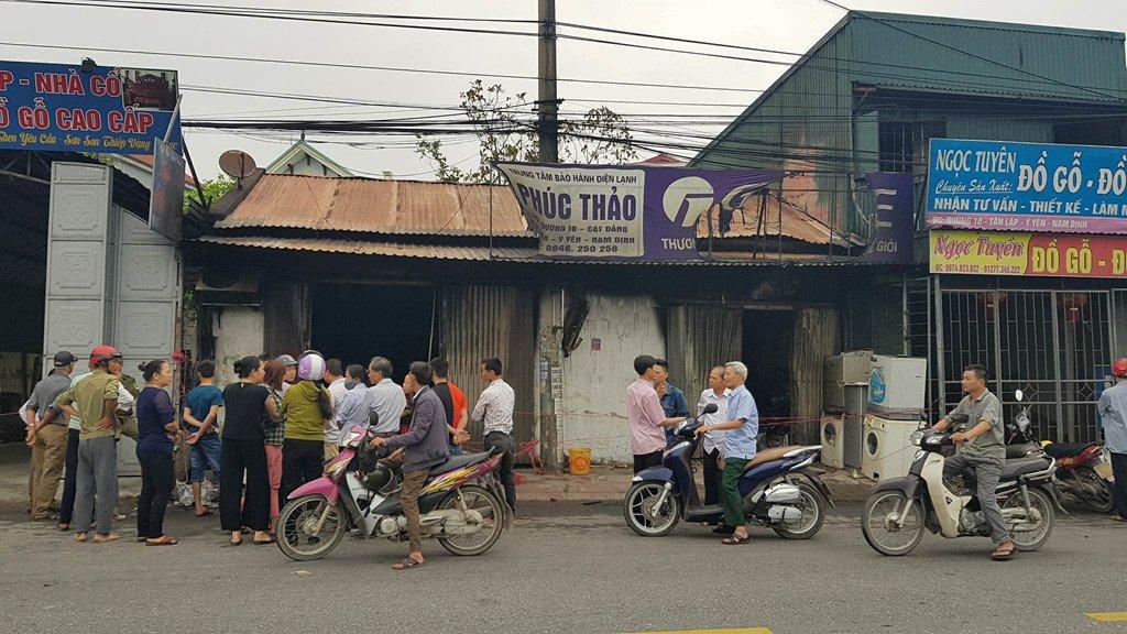 Hien truong can nha chay rui, 3 me con chet thuong tam o Nam Dinh hinh anh 1