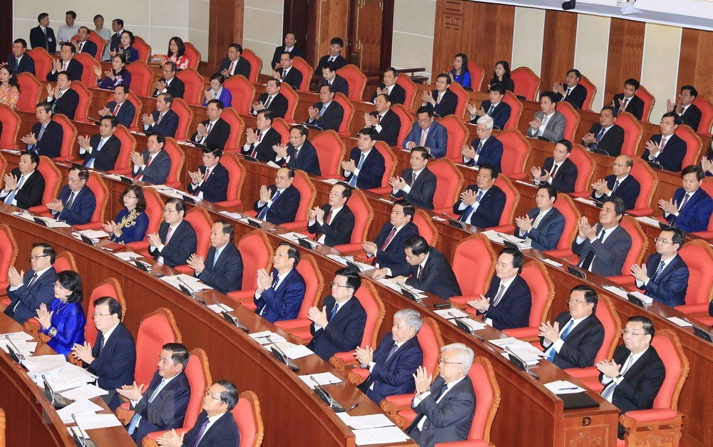 Anh: Toan canh khai mac Hoi nghi lan thu 7 Ban Chap hanh Trung uong Dang khoa XII hinh anh 3