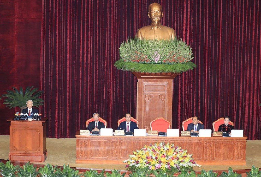 Anh: Toan canh khai mac Hoi nghi lan thu 7 Ban Chap hanh Trung uong Dang khoa XII hinh anh 6