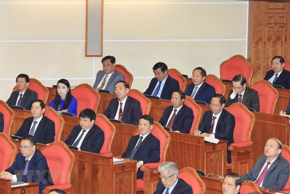 Anh: Toan canh khai mac Hoi nghi lan thu 7 Ban Chap hanh Trung uong Dang khoa XII hinh anh 7