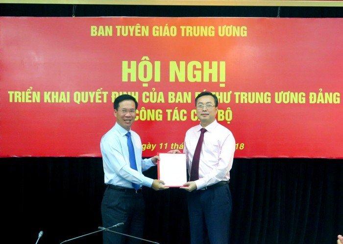 Pho chu nhiem Van phong Chu tich nuoc giu chuc Pho truong Ban Tuyen giao TU hinh anh 1