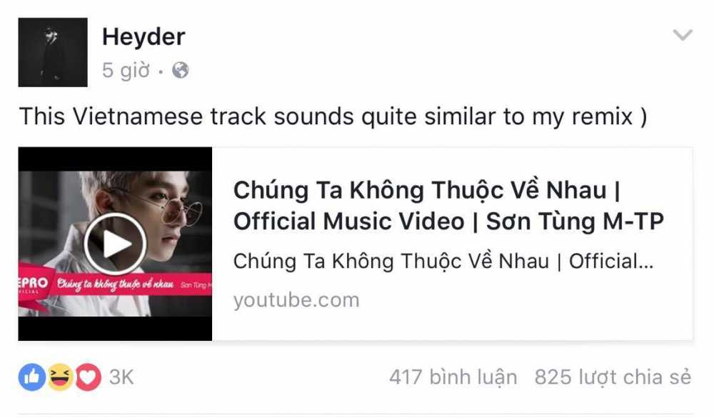 Chu nhan 'We don't talk anymore – Remix' len tieng to Son Tung dao nhac hinh anh 1