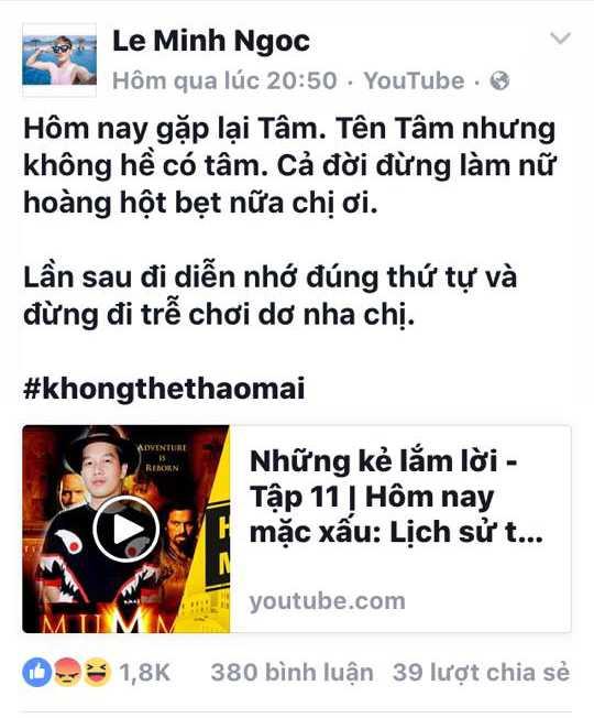 Thuc hu chuyen My Tam mac benh 'ngoi sao', de ca e kip phai cho doi hinh anh 2