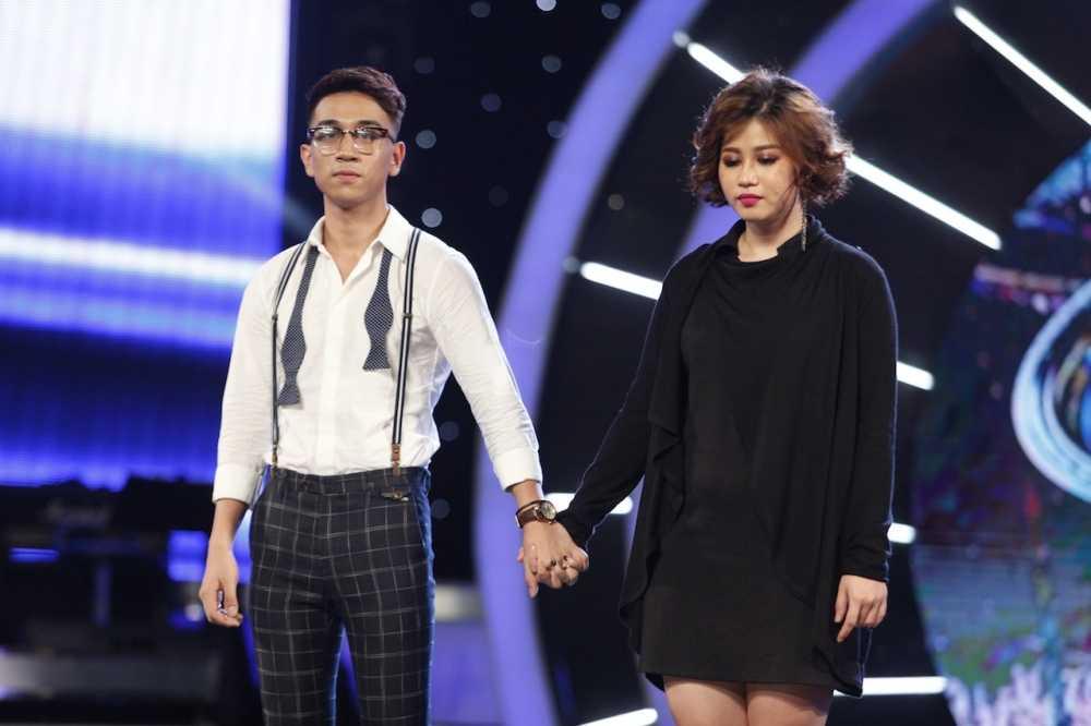 Truc tiep Vietnam Idol: Thu Minh doa se 'chem dep' Viet Thang neu quen loi bai hat hinh anh 12