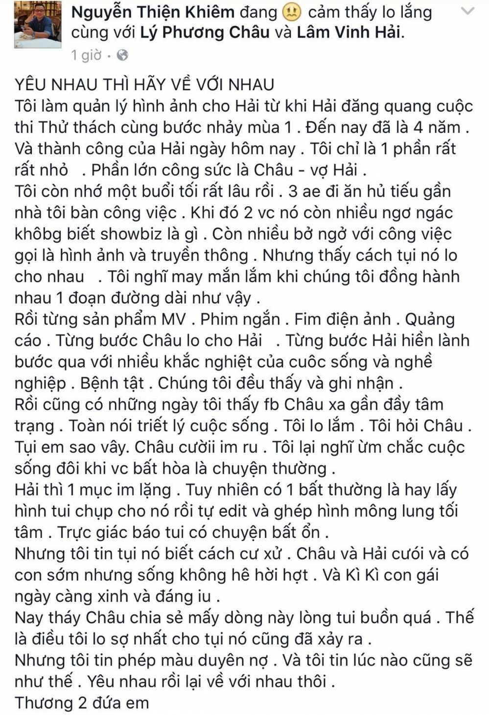Xuc dong voi loi chia tay van minh cua vo Lam Vinh Hai hinh anh 4