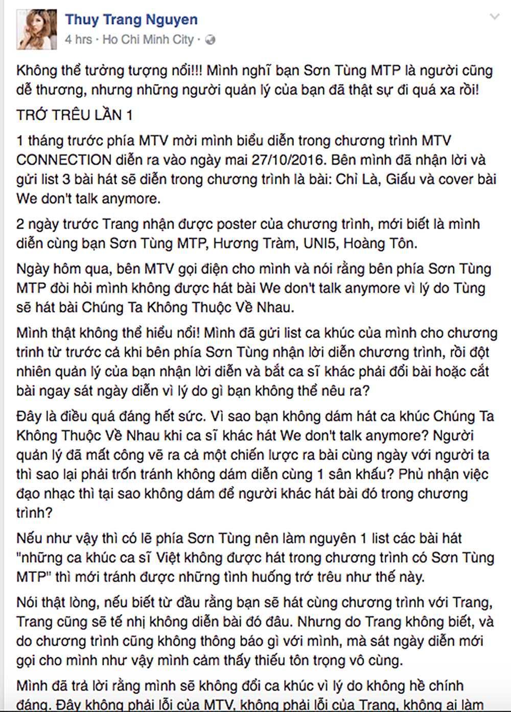 Trang Phap tung bang chung to ban to chuc MTV vi benh vuc Son Tung ma 'doi trang thay den' hinh anh 2