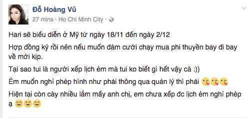 Ro tin don ket hon voi Tran Thanh ngay 25/11, quan ly cua Hari Won len tieng hinh anh 1