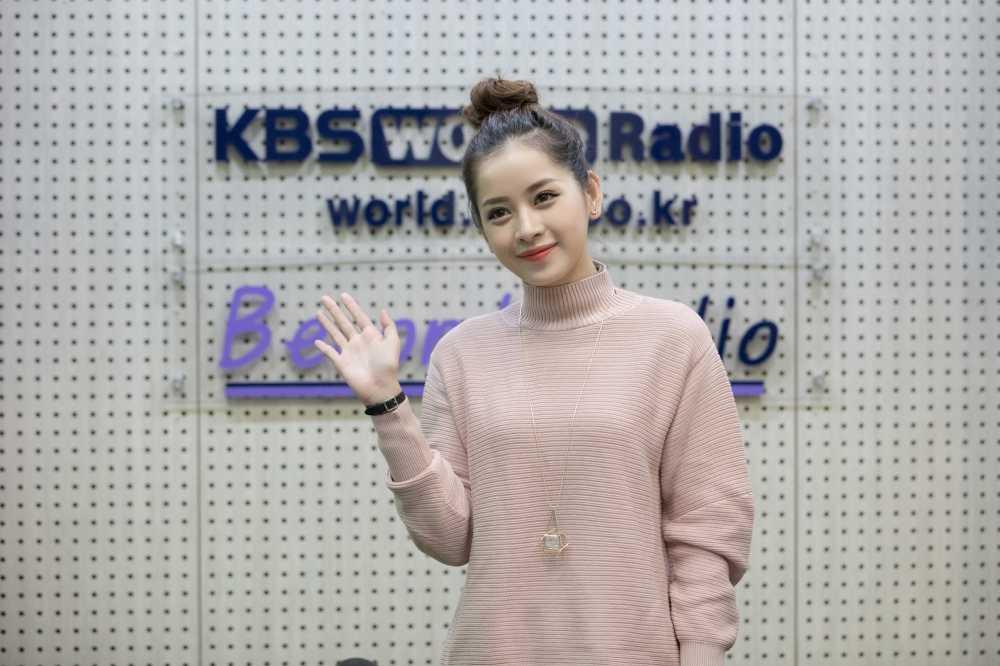 Chi Pu tra loi phong van dai KBS sau chien thang taiAsia Artist Awards 2016 hinh anh 1