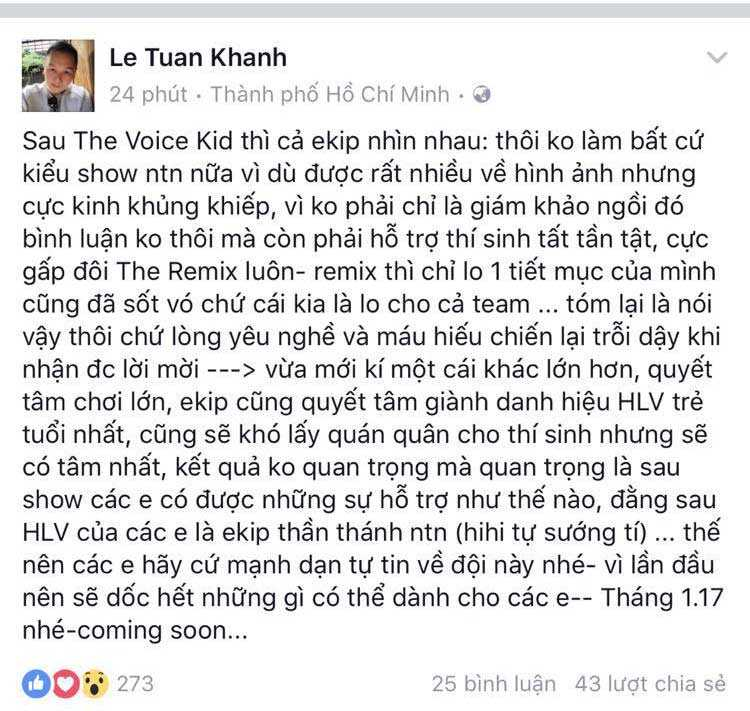 Noo Phuoc Thinh se la huan luyen vien tre nhat The Voice 2017? hinh anh 1