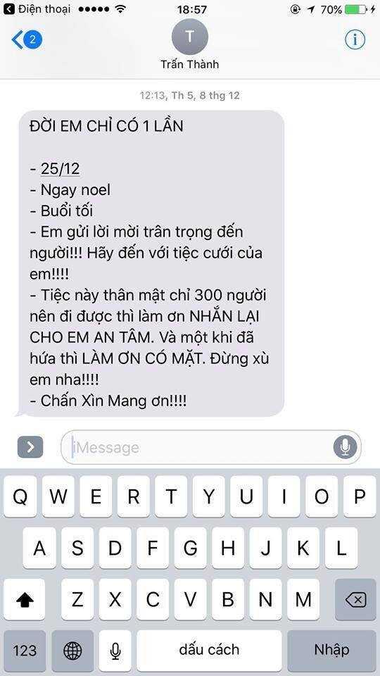 Tran Thanh tha thiet: 'Dung xu em nha' khi moi dam cuoi hinh anh 1