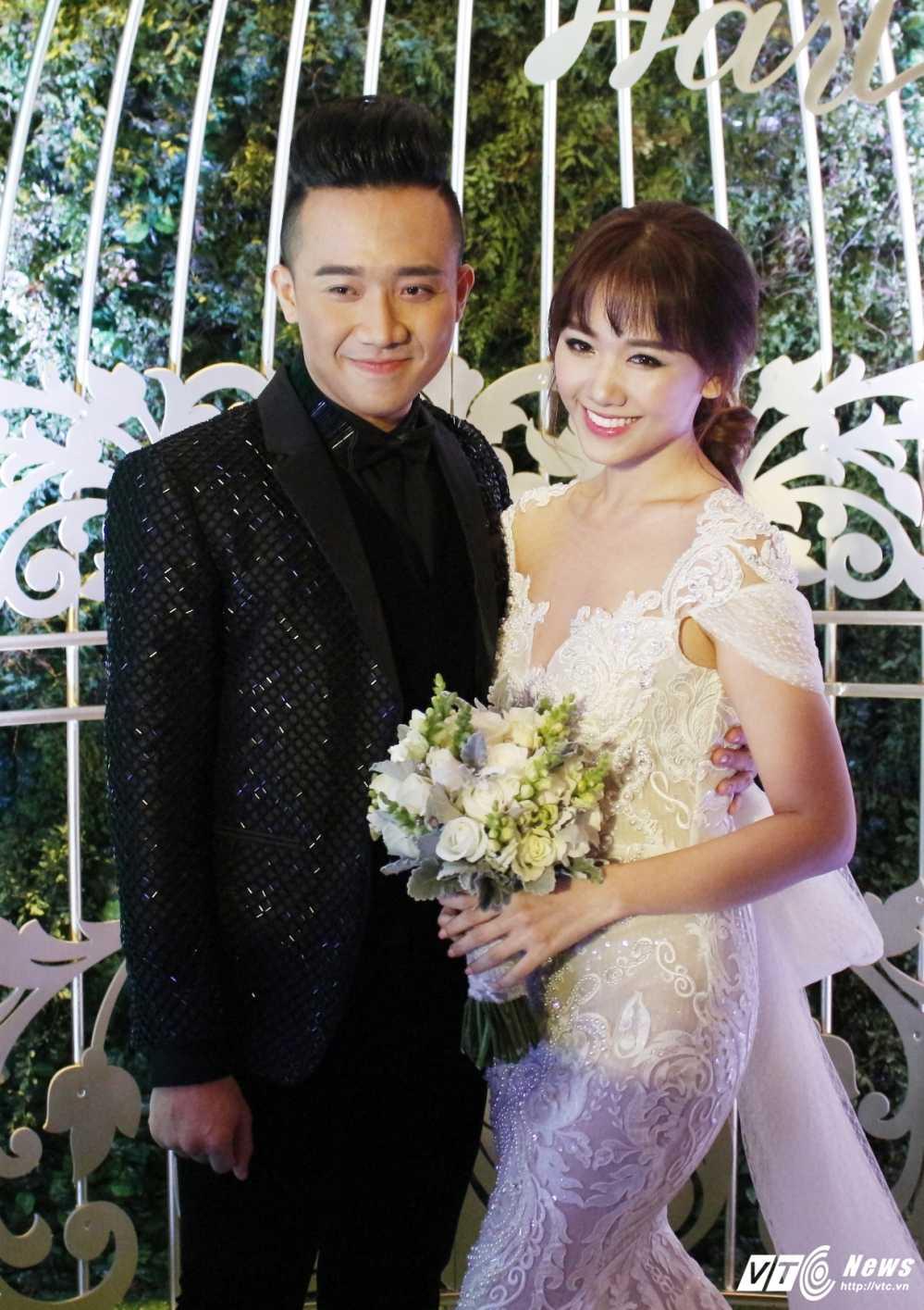 Tran Thanh om chat, dam duoi ngam Hari Won trong le cuoi hinh anh 6