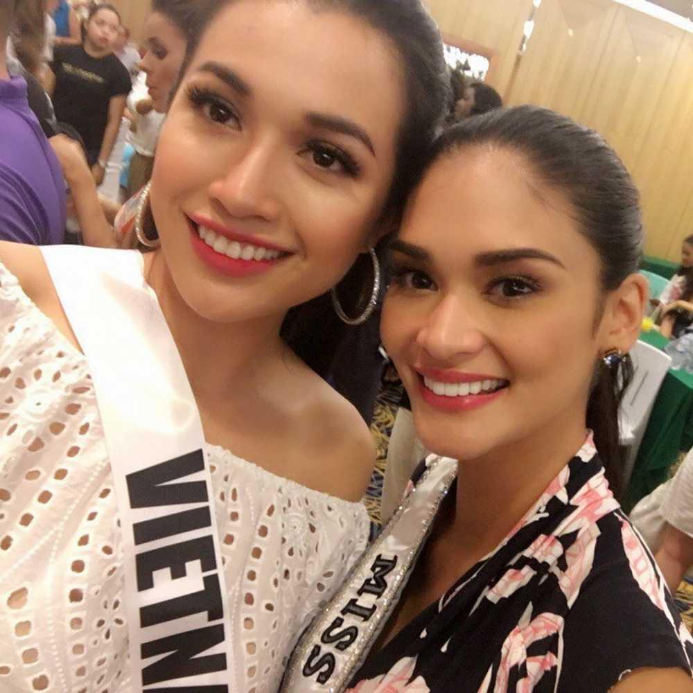Le Hang duoc khan gia Viet khen ngoi sau su co catwalk tai Miss Universe hinh anh 8