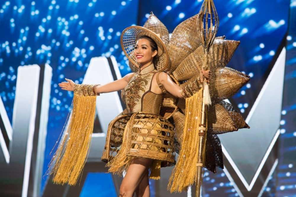 Le Hang toa sang trong dem ban ket 'Miss Universe 2016' hinh anh 5