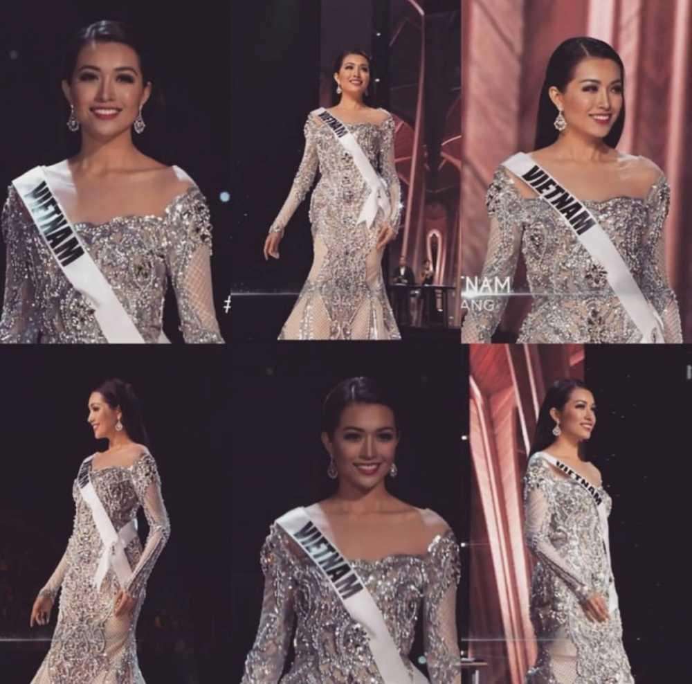 Le Hang toa sang trong dem ban ket 'Miss Universe 2016' hinh anh 4