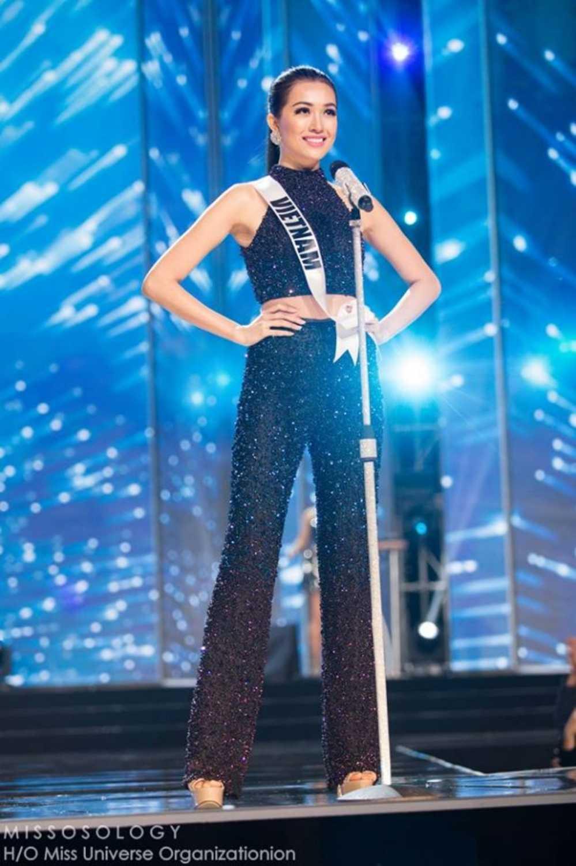 Le Hang toa sang trong dem ban ket 'Miss Universe 2016' hinh anh 1