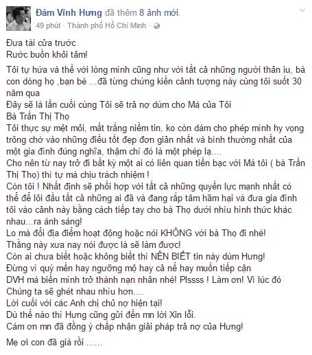 Dam Vinh Hung giua vong vay chu no, bat luc: 'Me oi con da gia roi' hinh anh 1