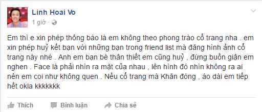 Hoai Linh: Se huy ket ban voi nhung nguoi huong ung phong trao 'co trang' dang gay sot hinh anh 1