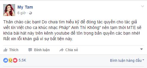 My Tam: Toi da gui loi xin loi tac gia 'Anh thi khong' hinh anh 1
