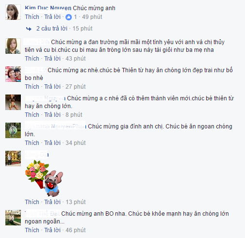Dan Truong hanh phuc len chuc bo, be 'thien than nho' 3,5kg hinh anh 4