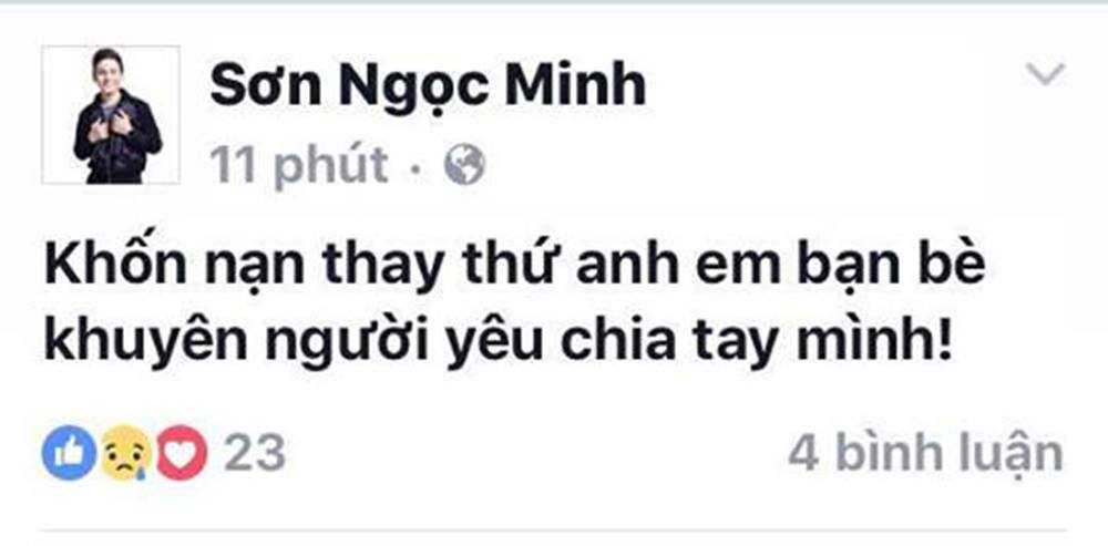 Son Ngoc Minh chui ban be 'khon nan' khi noi Erik chia tay minh hinh anh 1