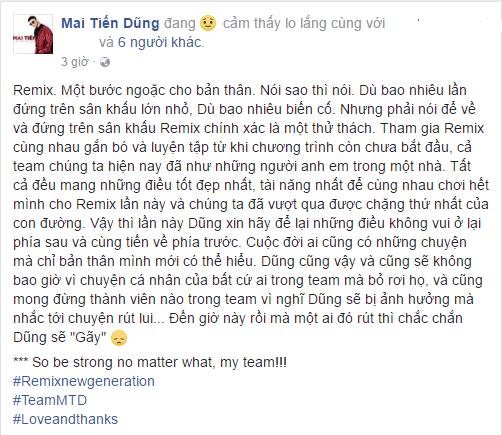 Mai Tien Dung up mo chuyen Lam Vinh Hai dinh rut khoi 'The remix' vi scandal hinh anh 3