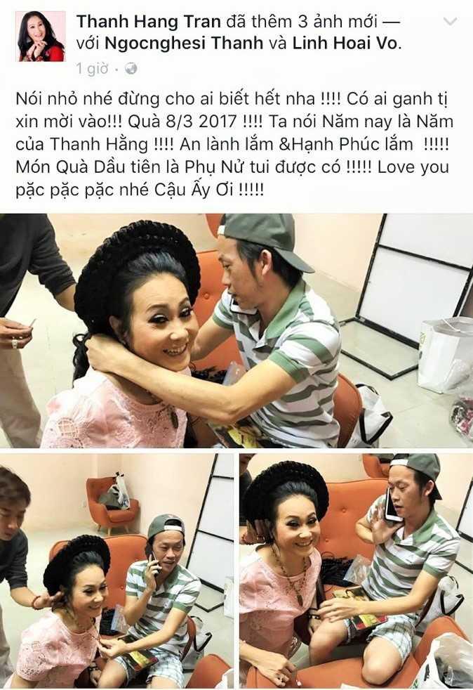 Hoai Linh bat ngo tang qua Ngay Quoc te Phu nu 2017 cho Thanh Hang hinh anh 2
