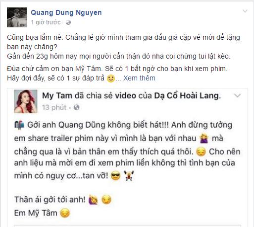 My Tam doi 'nghi choi' voi Quang Dung hinh anh 2