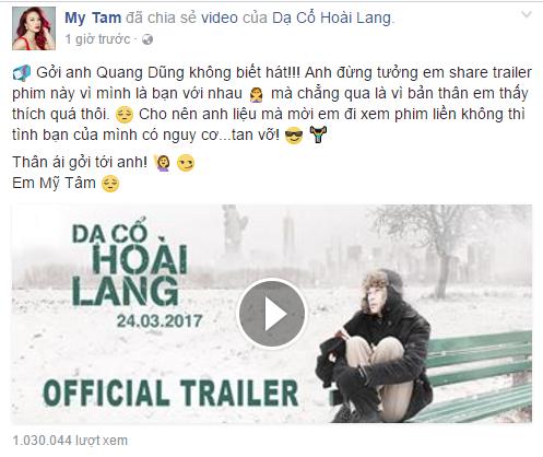My Tam doi 'nghi choi' voi Quang Dung hinh anh 1