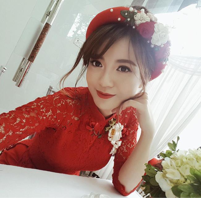 Hot girl Tu Linh MU xinh dep rang ro trong le an hoi hinh anh 1