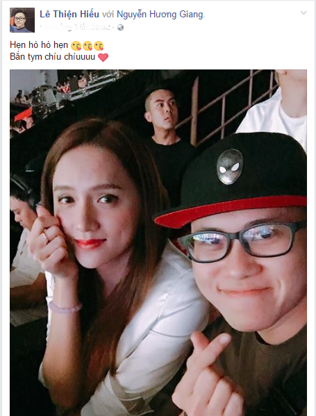 Nghi van Huong Giang Idol va Le Thien Hieu dang yeu nhau? hinh anh 1