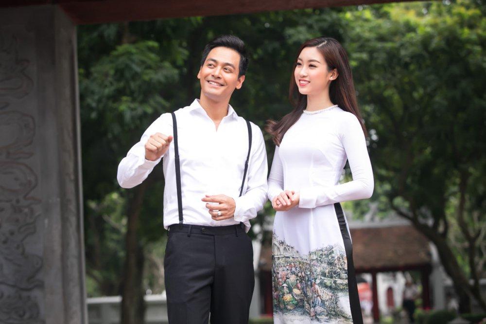 Hoa hau Do My Linh quan quyt ben MC Phan Anh hinh anh 4