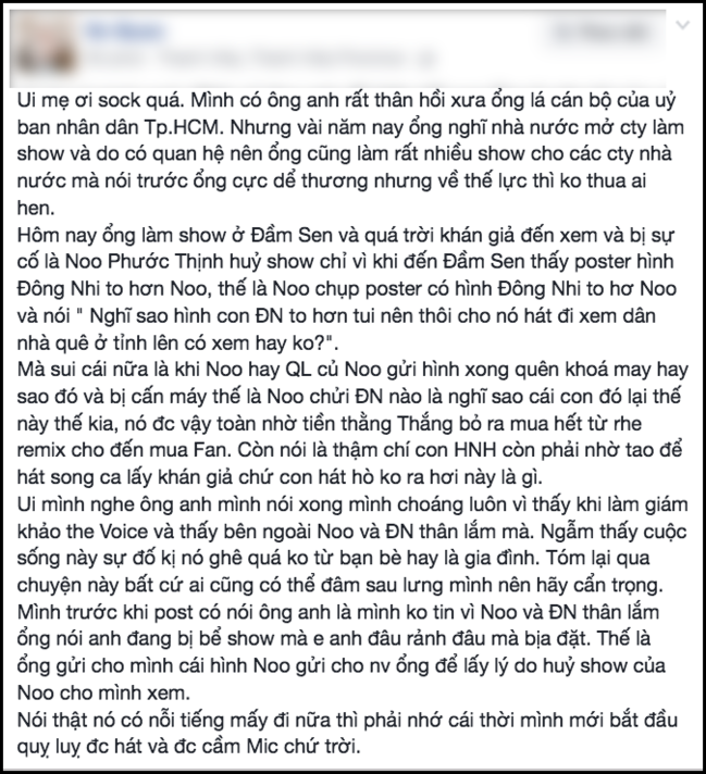 Bi to bo dien vi poster Dong Nhi to hon: Noo Phuoc Thinh len tieng hinh anh 1