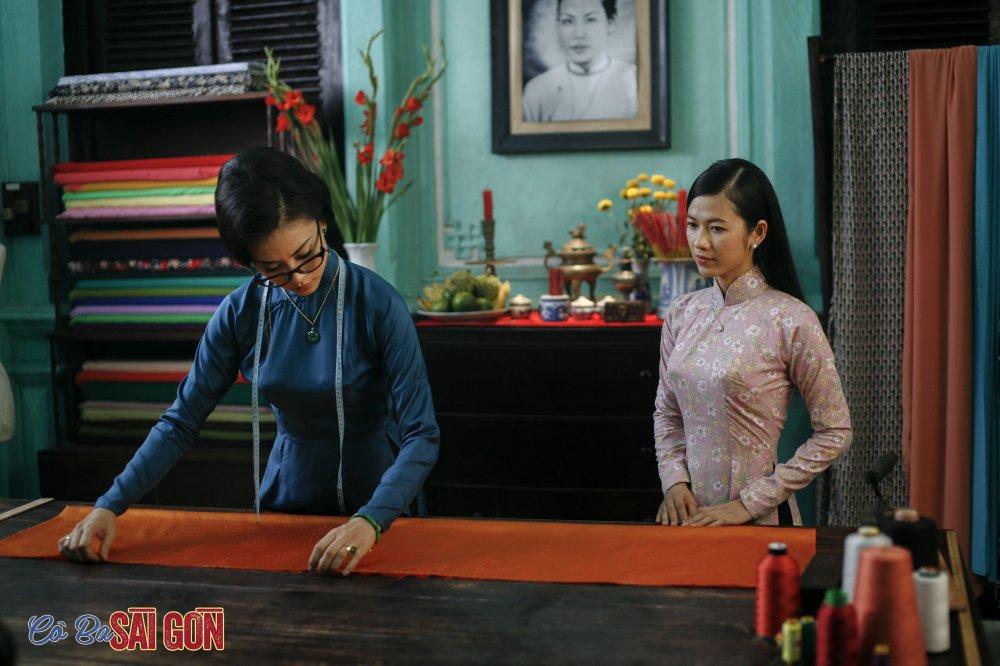 Ngo Thanh Van tu tay may ao dai bang may may thoi xua hinh anh 4