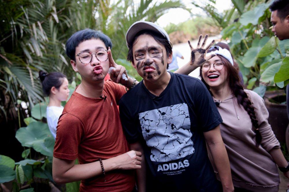 Hoa Minzy ve Ben Tre bat ca cung MC Quang Bao, Hai Trieu hinh anh 1