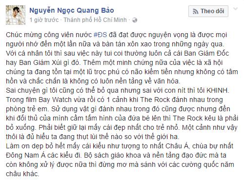 MC Quang Bao: Dan chan dai nhay phan cam cho con nit xem o Dam Sen that dang xau ho hinh anh 2