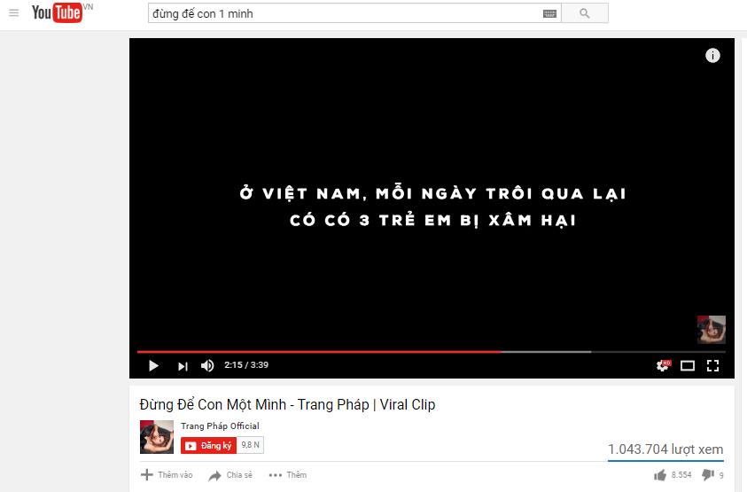 MV ve nan au dam cua Trang Phap dat trieu luot xem trong thoi gian ngan hinh anh 2
