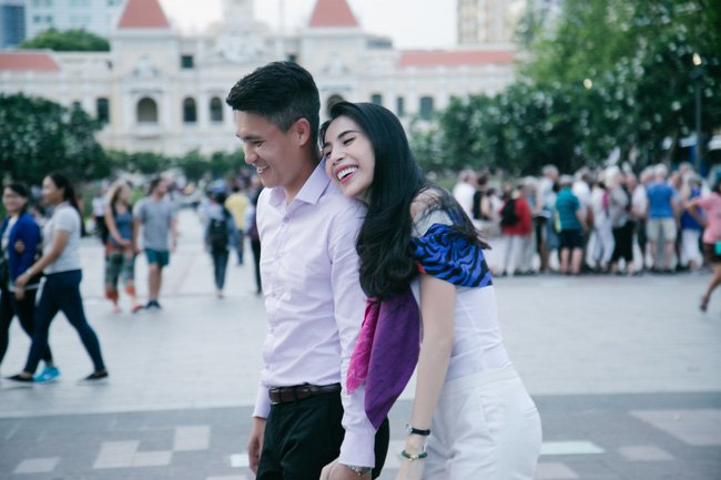 Cong Vinh ke chuyen tinh yeu voi Thuy Tien tren song truyen hinh My hinh anh 3