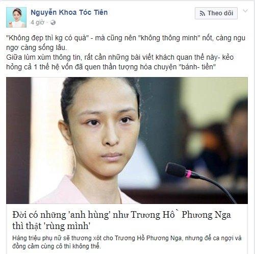 Sau Toc Tien, den luot Hoang Thuy bi nem da vi len an Truong Ho Phuong Nga hinh anh 6