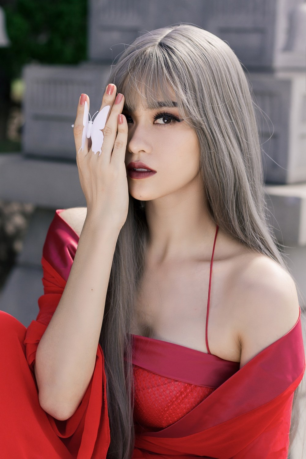 Truong Quynh Anh xuat hien la lam voi mai toc trang ma mi hinh anh 5