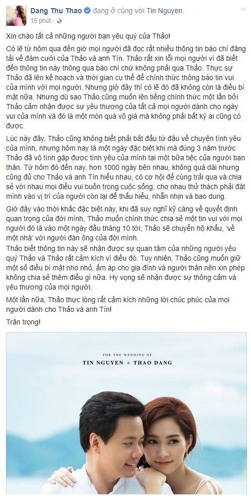 Hoa hau Dang Thu Thao chinh thuc xac nhan len xe hoa vao thang 10 hinh anh 2