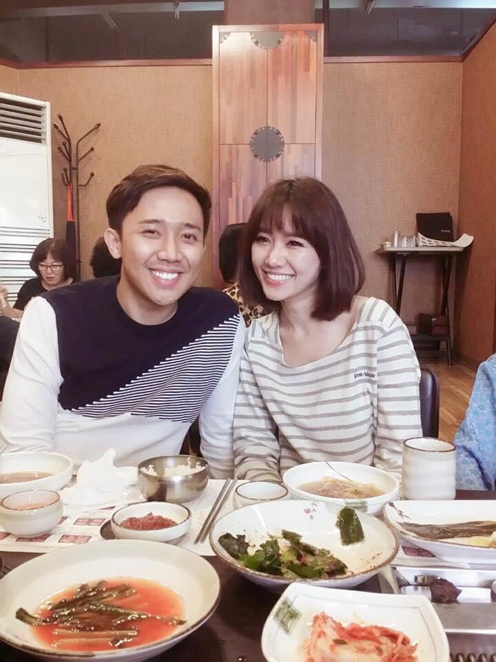Hari Won - Tran Thanh: Doi vo chong ham an nhat showbiz day roi! hinh anh 1