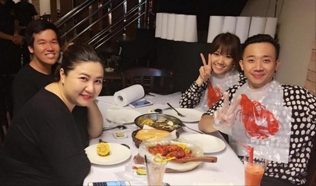 Hari Won - Tran Thanh: Doi vo chong ham an nhat showbiz day roi! hinh anh 8