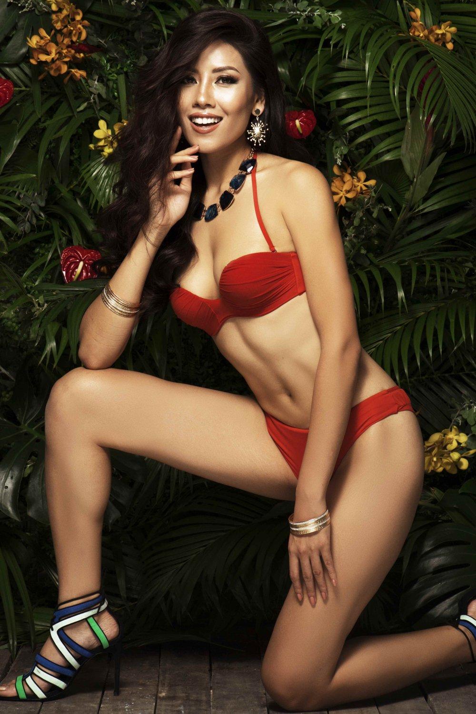 Nguyen Thi Loan tung anh bikini nong bong truoc Chung ket 'Hoa hau Hoan vu 2017' hinh anh 2