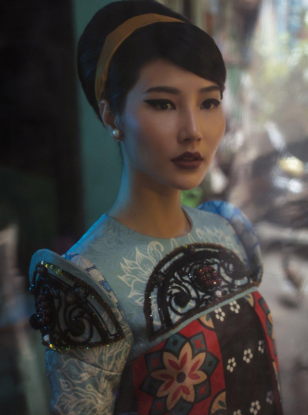 Ninh Duong Lan Ngoc, Diem My 9x dien ao dai tai hien hinh anh Sai Gon xua hinh anh 4