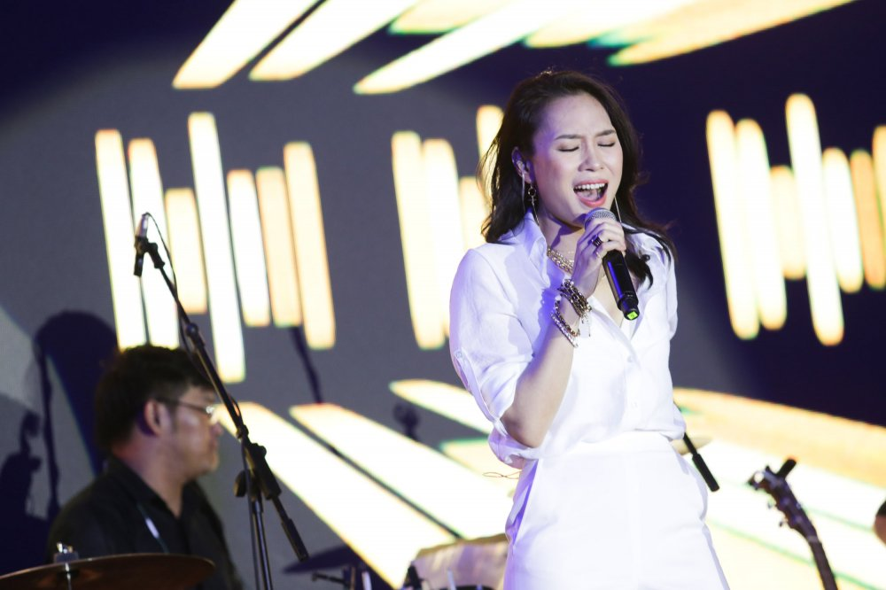 'Bien nguoi' do ve pho di bo Nguyen Hue nghe My Tam hat hinh anh 1