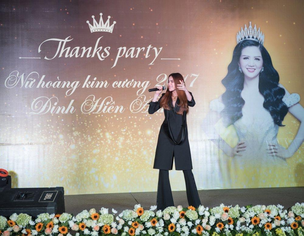 Ho Ngoc Ha voi va den chuc mung 'Nu hoang Kim cuong' Dinh Hien Anh hinh anh 2